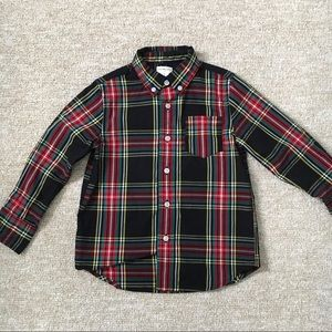 CrewCuts Kids Holiday Plaid Shirt, Size 3